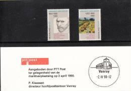 Nederland - PTT-gelegenheidsmapje - Marktverplaatsing Venray 2 April 1990 - Postal History