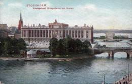 STOCKHOLM (Schweden), Riksdagshuset Strömparterren Och Norrbro, Gelaufen Um 1930 - Schweden