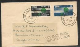 IRELAND - EIRE -VF  I.T.U. Centenary  FDC Sent To ARGENTINA - SG # 205/6 - Ireland