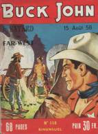 BUCK JOHN N° 118 BE IMPERIA 08-1958 - Petit Format