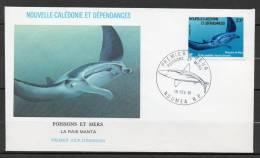 NOUVELLE-CALEDONIE  F D C 1 Jour  Faune Marine 1981 N°443 - Nouvelle-Calédonie