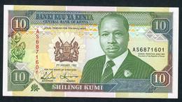 KENYA   P24d   10  SHILLINGS    1992    UNC. - Kenia