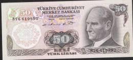 TURQUIE TURKEY P188   50 LIRA    1976    Prefix H   UNC. - Turkey