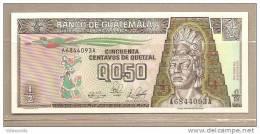 Guatemala - Banconota Da 50 Centesimi Di Quetzal Non Circolata - 1989 - - Guatemala