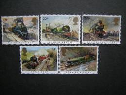 G. B. 1985, N, 1168/72, Famous Trains, Compl. Series, MNH** Postfrish Perfect - 1952-.... (Elisabetta II)