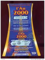 FRANCAISE DES JEUX - AN 2000 - 55901 - Code Barres à Gauche - Trait Rouge - Billets De Loterie