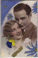 COUPLE PORTRAIT - Avec Paillettes Et Fleurs Brodées. - Couples