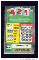 FRANCAISE DES JEUX - 421 - 03028 Fond Blanc - Ticket Gagnant 10 F - Billets De Loterie