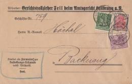 DR Brief Mif Minr.146,153,187 Heilbronn 9.3.22 - Briefe U. Dokumente