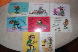 Lot 8 Cartes Postales GASTON LAGAFFE - FRANQUIN - Comics