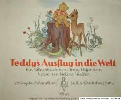 Hoffmann, TEDDY'S AUSFLUG IN DIE WELT, EA, 1949, Wien,  Mit 11 Ganzseitigen Farbigen Abbildungen - Libri Vecchi E Da Collezione