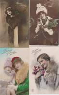 Lot 24cpa-fantaisie--vintage- Postcard--femme-woman-fra U-fourure-vison-fru-pelzf Utter - 5 - 99 Cartes