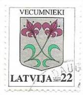 "Latvia 2007  Definitive Issue  Small City LOGO  "" Vecumnieki ""  Flowers (0) - Latvia"