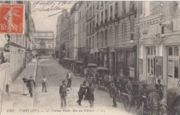 PARIS XV  Rue Du Théatre Façade Du  CINEMA PATHE  AFFICHES  COCHERS De Fiacres Une BAGARRE Timbre En 1910 - Paris (15)