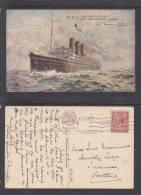 P&O INDIA-CHINA-AUSTRALIA - MAIL & PASSENGER- S.S.NARKUNDA, London Paquebot 1931, H.K.ROOKE (artist) - Steamers