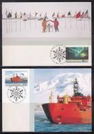 AAT 1991 Aurora Australis, 30th Anniv Antarctic Treaty 2 X Maxicards - Australian Antarctic Territory (AAT)