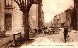 GIVORS Circuit De Lyon 1914. Virage à Givors, Route Pavée. Field Post Office 1917. Automobile. - Givors