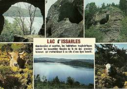CPSM Du LAC D'ISSARLES (07) : Cratère D'un Ancien Volcan - 6 Vues. - Ohne Zuordnung