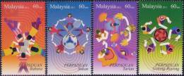 Malaysia 2012 Unity MNH Sport Soccer Football Badminton Hockey Dance - Malaysia (1964-...)