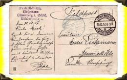 1917  -  Feldpost  -  Carte Postale Postée à Löwenberg  -  Allemagne - Briefe U. Dokumente