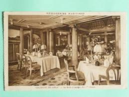 """Paquebot """" LECONTE DE LISLE"""", La Salle à Manger Des 1ere Classes. - Steamers"""