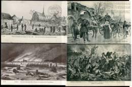 * LOIGNY-LA-BATAILLE - Bataille Du 2 Décembre 1870 (4 Cartes Non Circulées) - Francia