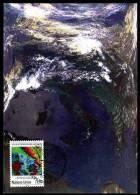 85504) UNO Genf - Michel 177 - MK / MC Maximumkarte - 1,10 Fs 25 Jahre Weltwetterwacht - Maximumkaarten