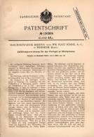 Original Patentschrift - Maschinenfabrik Badenia In Weinheim I. Baden , 1901 , Zuführung Für Strohpresse !!! - Historische Dokumente
