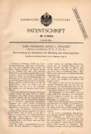 Original Patentschrift - J. Bates In Setauket , Suffolk , USA , 1899 , Gebäude Zur Rettung Bei Feuer , Feuerwehr !!! - Architecture