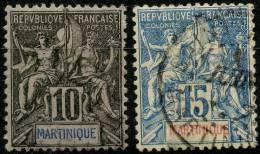 Martinique (1892) N 35 à 36 (o)