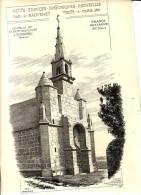 PLOUHARNEL- Chapelle De N.D Des Fleurs-2 Feuillets Pages (vers 1880) -Etudes Edifices Historiques Par Raguenet - Documenti Storici