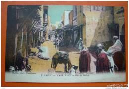 MAROC - MARRAKECH - RUE DU MELLAB - Marrakech