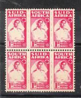 Sud Africa   -  1941-43.  Infermiera  Militare. 3 Coppie South Africa Dentellature Diverse. Rare - Medicina