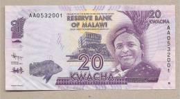 Malawi - Banconota Non Circolata Da 20 Kwacha - 2012 - Malawi
