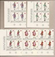 SMOM - Serie Completa Nuova In Quartina Angolo Di Foglio: Antiche Uniformi Dell'Ordine - 1969 - Sovrano Militare Ordine Di Malta