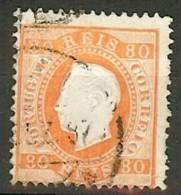 Portugal 80c Fita Direita - 1855-1858 : D.Pedro V