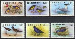 Mux077 VOGELS STERN PURPERHOEN BIRDS CALLINULE TERN KILLDEER VÖGEL AVES OISEAUX BARBUDA 1976 PF/MNH - Antigua En Barbuda (1981-...)