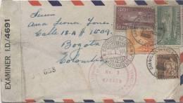 Lote SC30, Cuba, 1944, Sobre Circulado, Cover, Cuba-Colombia, Censurado, Censored, 4691, Censor - Sin Clasificación