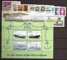 Saint Pierre Et Miquelon Année Complète 1996 ** Poste 624 à 640A + PA 75 - St.Pierre & Miquelon
