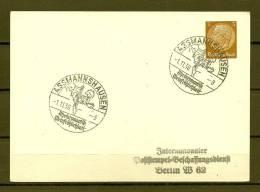DEUTFCHES REICH,  01/11/1938 Rheinromantik Weinfrohlichkeit - ASSMANNSHAUSEN  (GA3853) - Wines & Alcohols