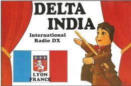 Carte Qsl International Radio Dx Delta India,lyon - Autres