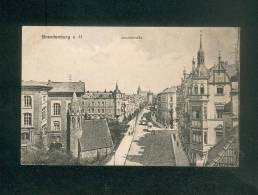 AK Allemagne - Brandenburg A. Havel - Jakobstrasse ( Tramway Etiquette Rouge Feldpost Carl H. Odemar N° 42) - Brandenburg