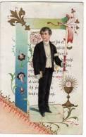 Image De Communion Publicitaire Pour Mlle Jean Toilettes De 1er Communion à St Quentin 02 - Communiant Decoupé - Devotion Images