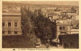 TUNIS Perspective De L'Avenue De Paris - Túnez