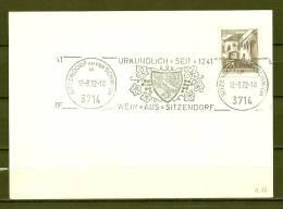 REPUBLIK ÖSTERREICH , 12/09/1972  Urkundlich Seit - SITZENDORF  (GA4320) - Vins & Alcools