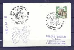 ITALIE , 01/09/1985  Sagra Del Vino - PIANA DI BATTOLLA   (GA4329) - Wines & Alcohols