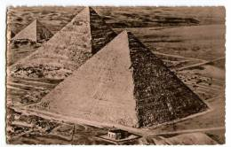 Rare Cpa Carte Photo Egypte Aerial View Of The Pyramids Of Giza Photo And Copyright By Lehnert & Landrock THI1 - Non Classés
