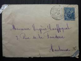 LETTRE DE CAYENNE GUYANE 1928 AVEC 50ç ORPAILLEUR POUR TOULOUSE (COVER)