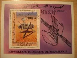 REPUBLIQUE MAURITANIE Nuakchott 1977 Operation Viking Sur Mars Marte Spacecraft Vaisseau Spatial Sonda Espacial Space Ma - Space