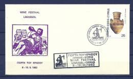 CYPRUS , 19/09/1982  Wine Festival -  LIMASSOL   (GA4630) - Wijn & Sterke Drank
